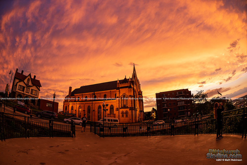St. Mary of the Mount Church at sunset