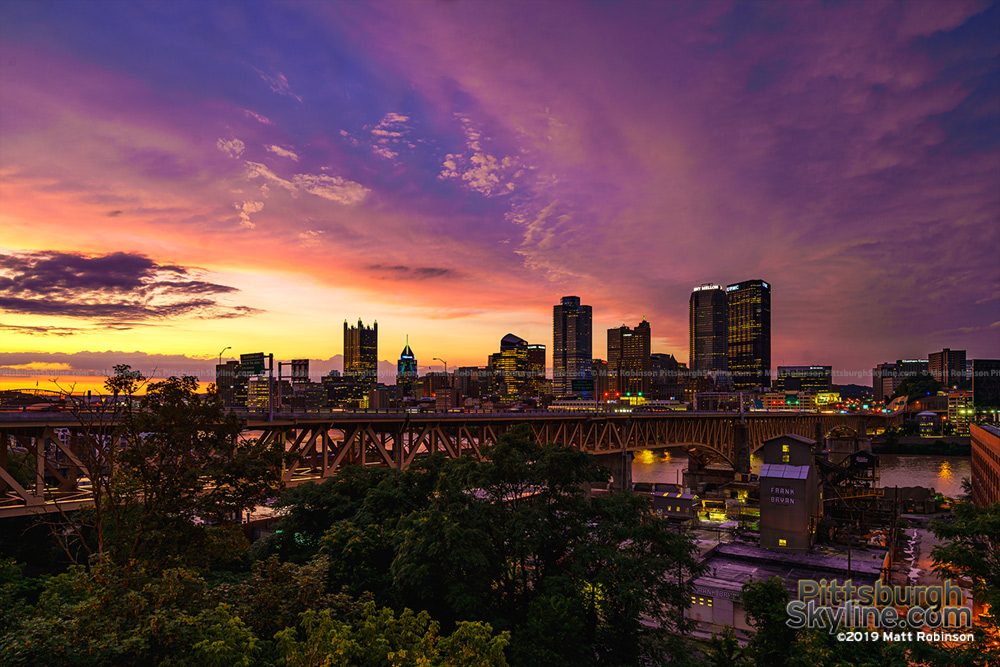 Liberty Bridge and Pittsburgh Skyline 2019