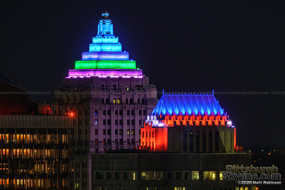 Lighting on the Gulf Building and Koppers Building