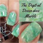 The Digit Al Dozen Does Marble Nails Day 2 Polish And Paws