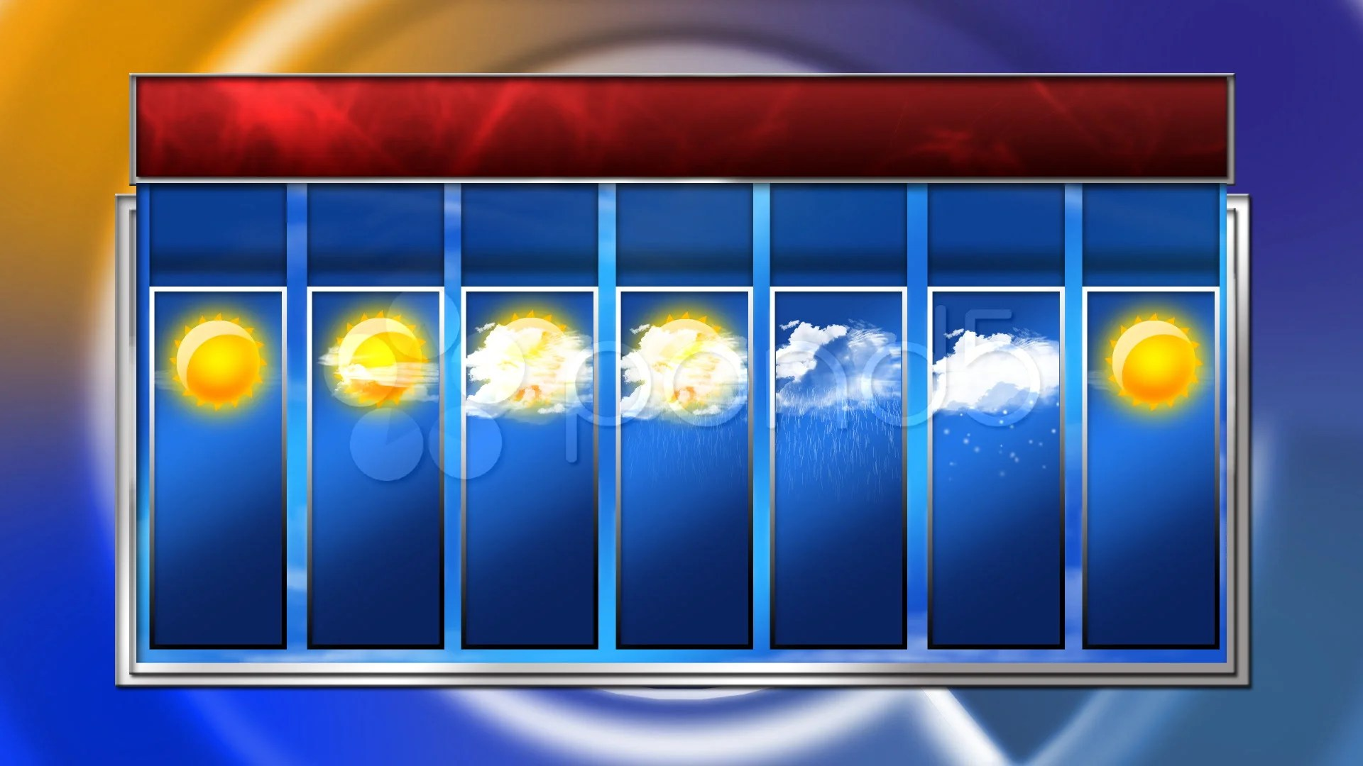 Stock Video Hd 7 Day Weather Forecast