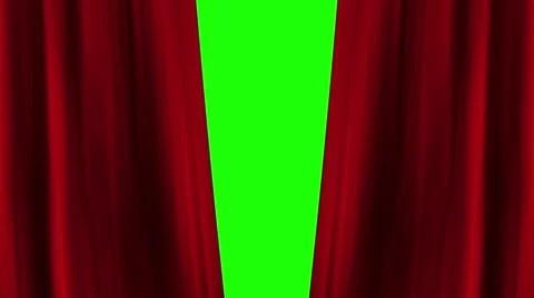 theatre curtain green screen stock