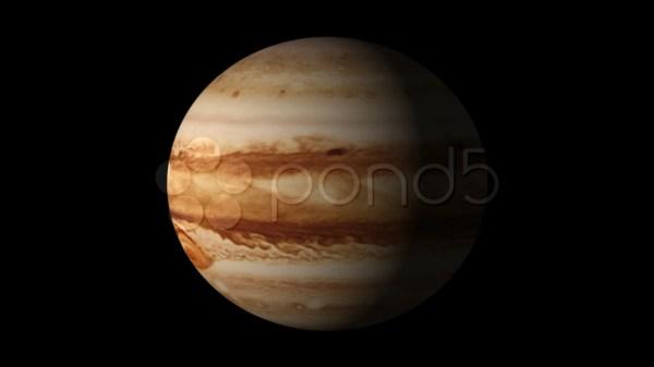 Planet Jupiter rotation HD 4K Stock Footage 709253