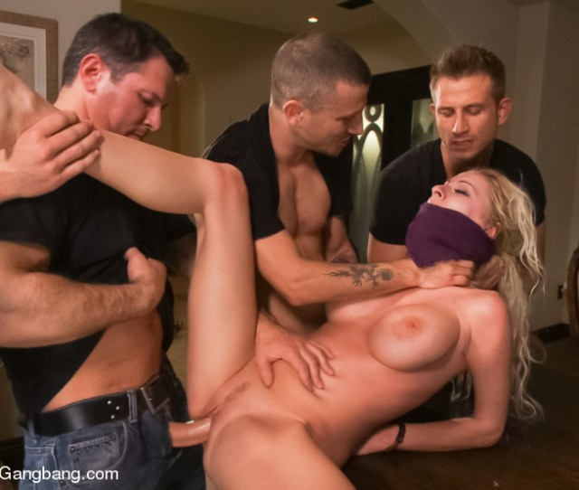 Busty Babe Gets Every Hole Fucked In A Rough Manner In Hardcore Gangbang Action