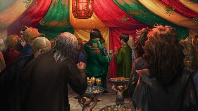 Slughorn's Christmas party