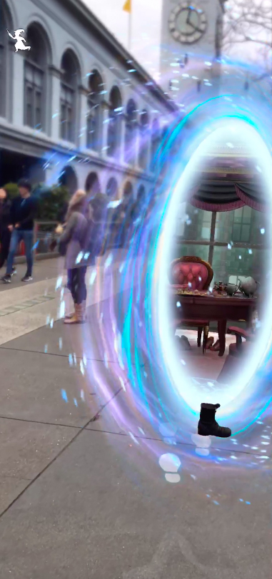 Portkey screengrab from Wizards Unite