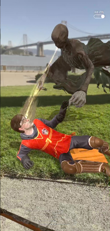 Harry and Dementor on Wizard's Unite screenshot
