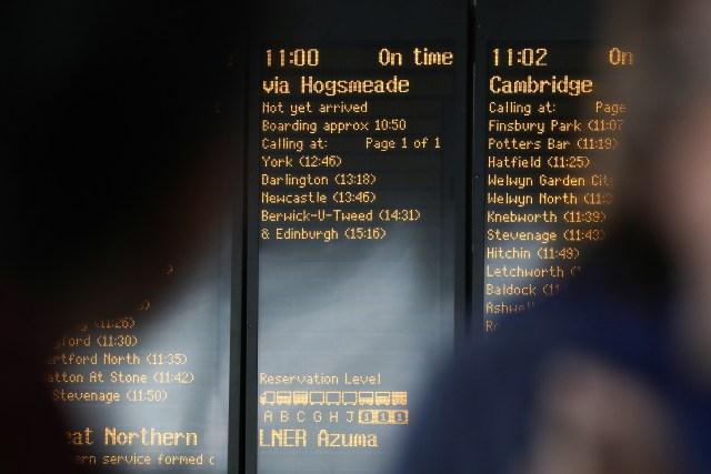 Kings Cross train board