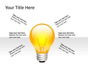 PowerPoint Slide  Light bulb Diagram  3D  1Lightbulb