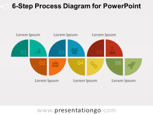 6Step Process Diagram for PowerPoint  PresentationGO