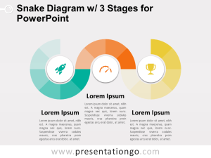 Snake Diagram with 3 Stages for PowerPoint