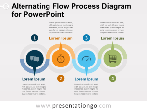 Alternating Flow Process Diagram for PowerPoint  PresentationGO