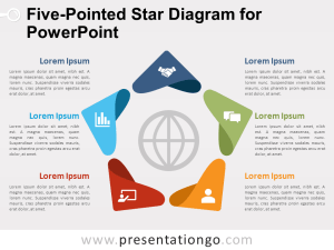 FivePointed Star Diagram for PowerPoint  PresentationGO