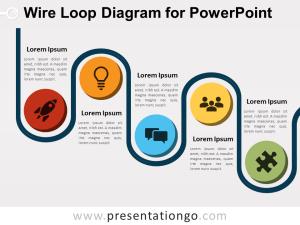 Wire Loop Diagram for PowerPoint  PresentationGO