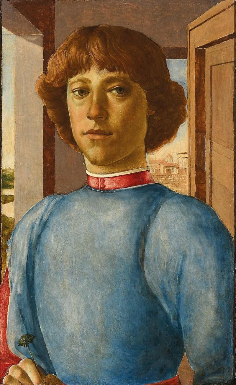 Ritratto di giovane, mai autenticato come opera di Botticelli, è stato venduto per 7.5 milioni di dollari a Luglio 2019. Foto: Schuler via Art Newspaper