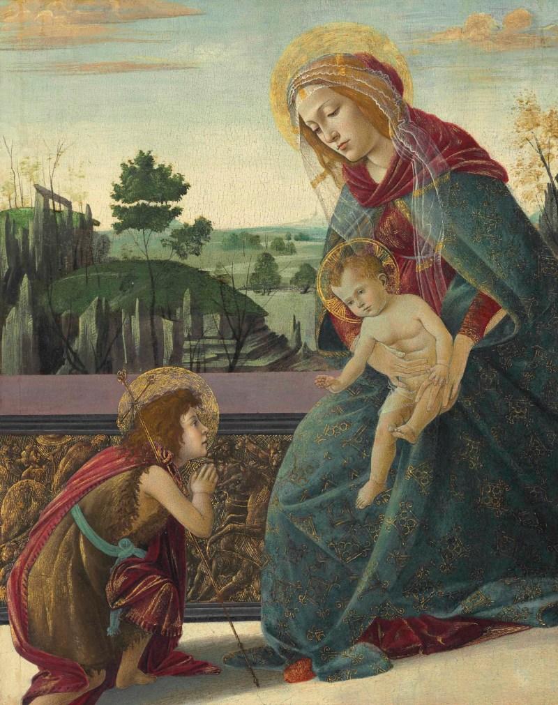 Madonna con Bambino e il giovane San Giovanni Battista ha raggiunto il record di 10.8 milioni di dollari da Christie's nel 2013. Foto: Christie's