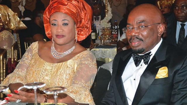 Jim James Ovia, the founder of Zenith bank with his wife Kay ovia.