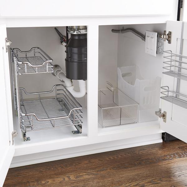 how to organize your under sink storage