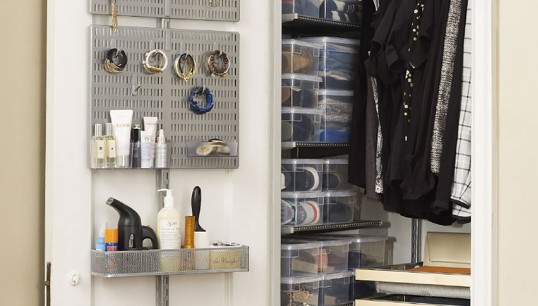 Tips Ideas For Small Closets Maximize A Small Closet The Container Store