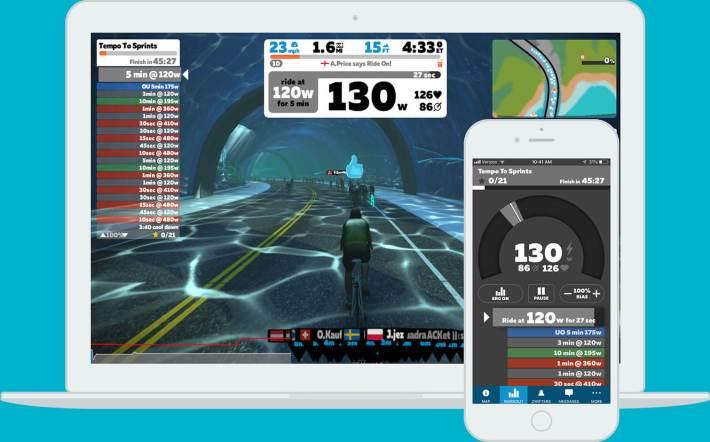 Captura de la plataforma Zwif