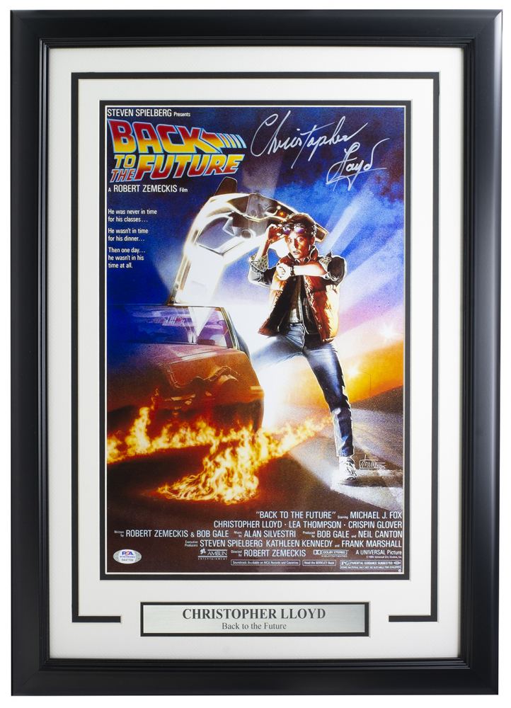 christopher lloyd signed back to the