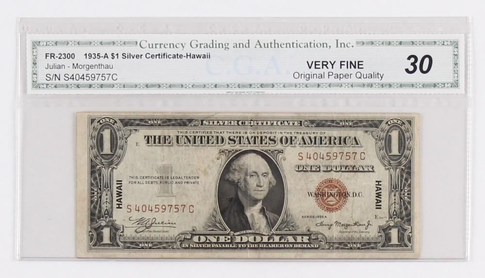 1935 Value Hawaii Certificate Silver