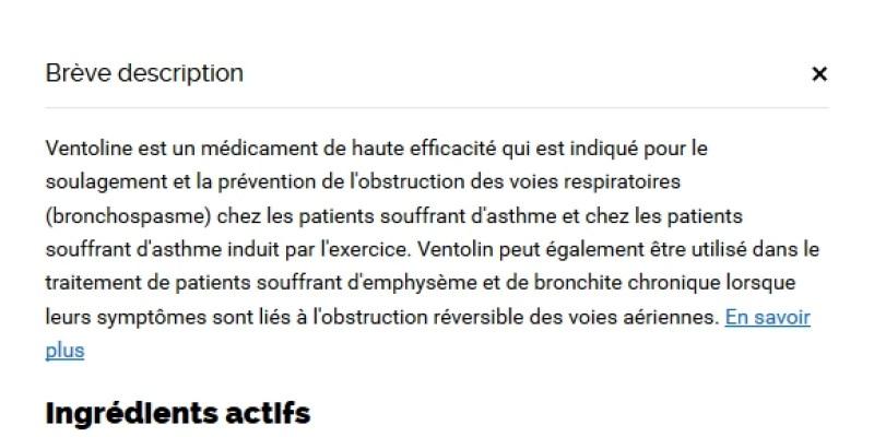 Acheter Ventolin 100 mcg paris / Garantie de remboursement / Pharmacie 24h