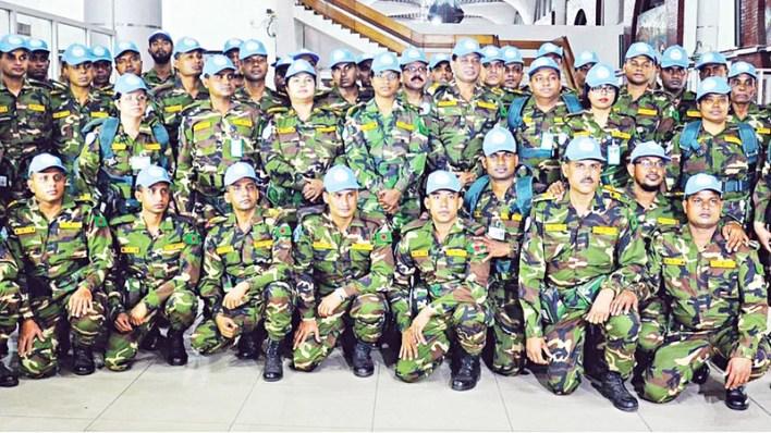জাতিসংঘের শান্তি মিশনে বাংলাদেশ সেনাবাহিনী সুনাম অর্জন করেছে