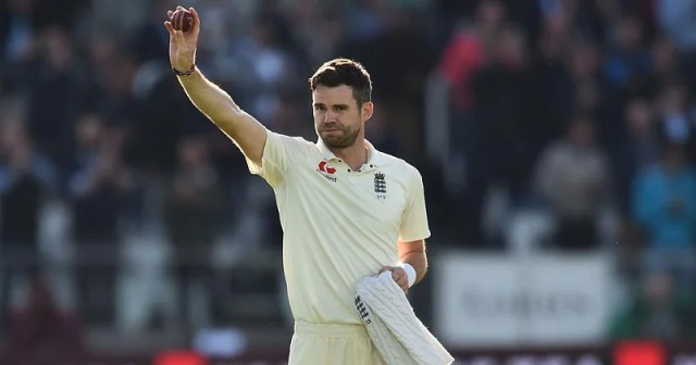 England fast bowler James Anderson.