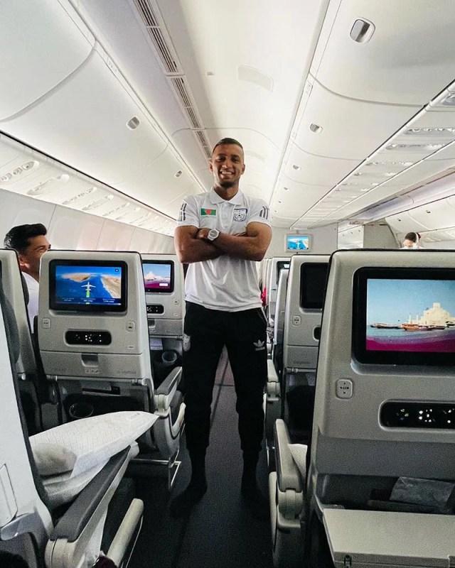 Jamal on his way to Qatar with Bangladesh team.