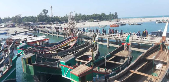 Fatherless children worked as drivers' assistants in fishing trawlers and sampans carrying tourists.  Now that the work is off, they are in trouble.
