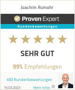 Erfahrungen & Bewertungen zu Joachim Rumohr