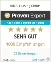 Erfahrungen & Bewertungen zu ARCA-Leasing GmbH