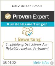 Erfahrungen & Bewertungen zu ARTZ Reisen GmbH