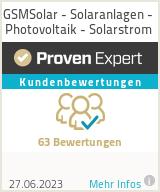 Erfahrungen & Bewertungen zu GSMSolar - Solaranlagen - Photovoltaik - Solarstrom