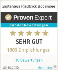 Erfahrungen & Bewertungen zu Gästehaus Riedblick Bodensee