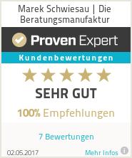 Erfahrungen & Bewertungen zu Marek Schwiesau | Die Beratungsmanufaktur