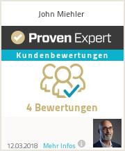 Erfahrungen & Bewertungen zu John Miehler