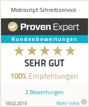 Erfahrungen & Bewertungen zu Mobiscript Schreibservice