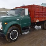 1969 Chevy C50 Single Axle Grain Truck V8 Gas 4x2 Speed Good Rubber 16 Wooden Box And Hoist Po Commercial Trucks Hauling Transport Trucks Grain Trucks Online Auctions Proxibid