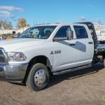 2015 Dodge Ram 3500 Heavy Duty 4x4 Crew Cab Flatbed Truck Cummins Turbo Diesel Automatic 8 Commercial Trucks Hauling Transport Trucks Flatbed Trucks Online Auctions Proxibid