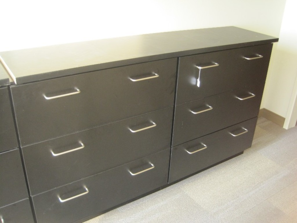 Lot Amcase Furniture Black 6 Drawers Hanging Lateral File