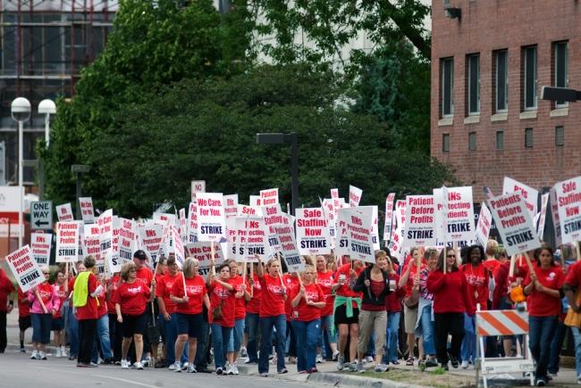 Nurses go on strike in Los Angeles