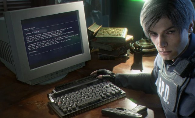 Resident Evil 2 PS4 Keyboard 1