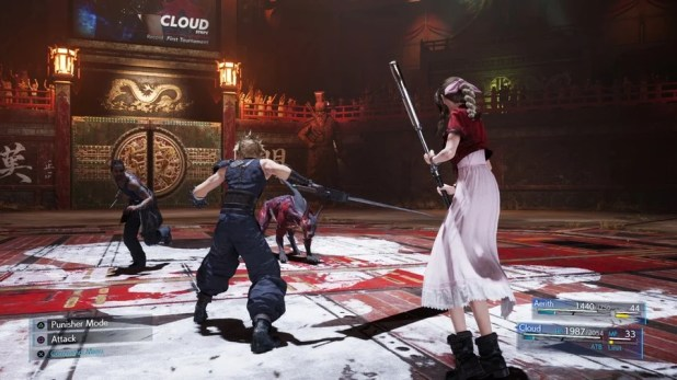 Final Fantasy VII Remake Combat in Hard Mode