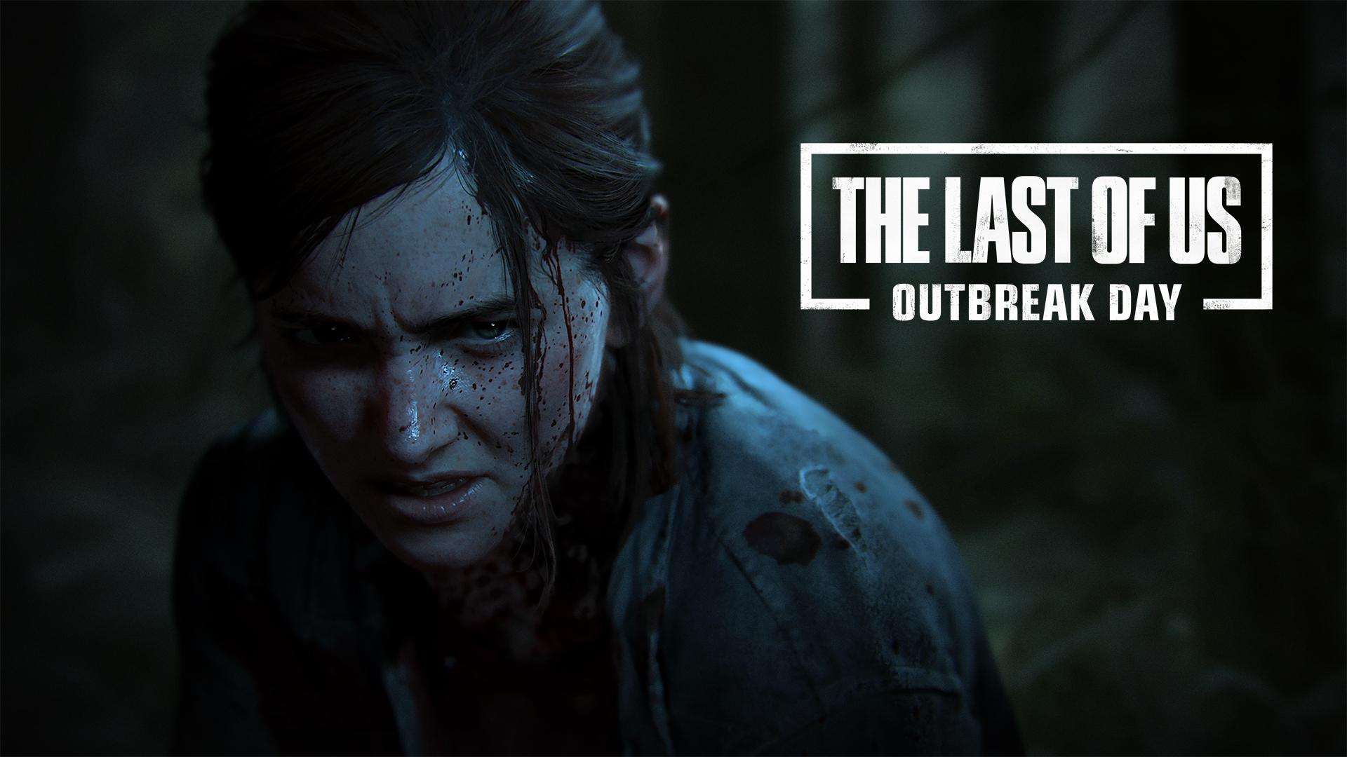 The Last of Us Part II Poster featuring Ellie bearing her teeth.