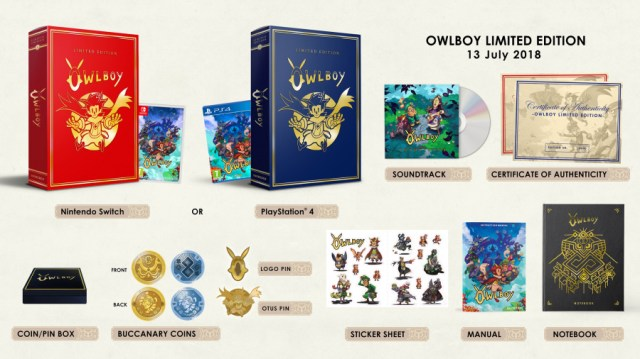 Owlboy PS4 PlayStation 4 Limited Edition