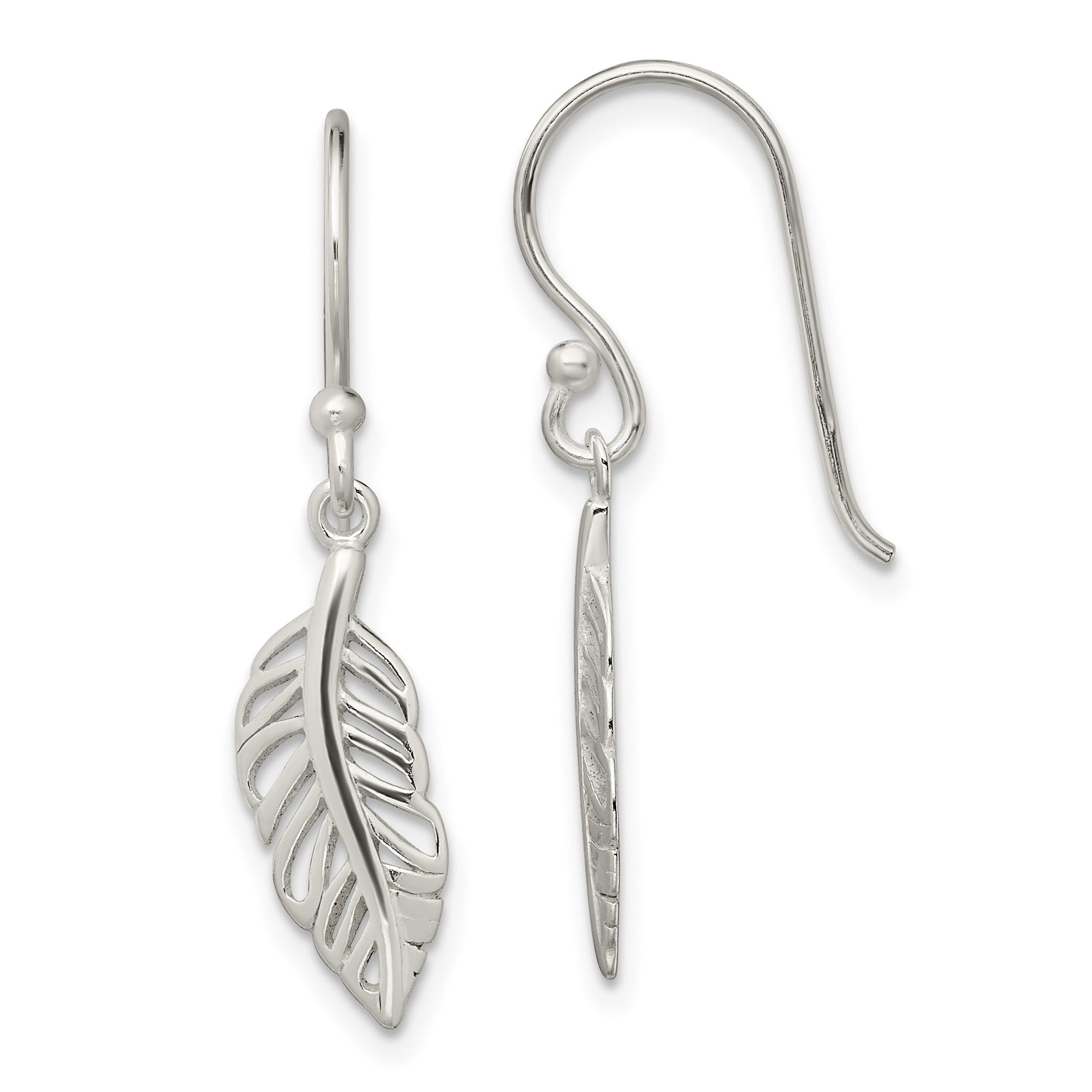 925 Sterling Silver Leaf Drop Dangle Chandelier Earrings
