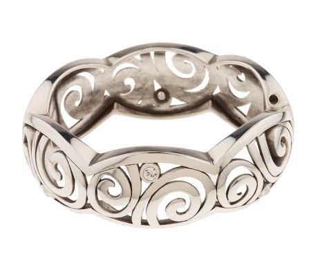 Brighton London Groove Hinged Bangle With Magnetic Closure