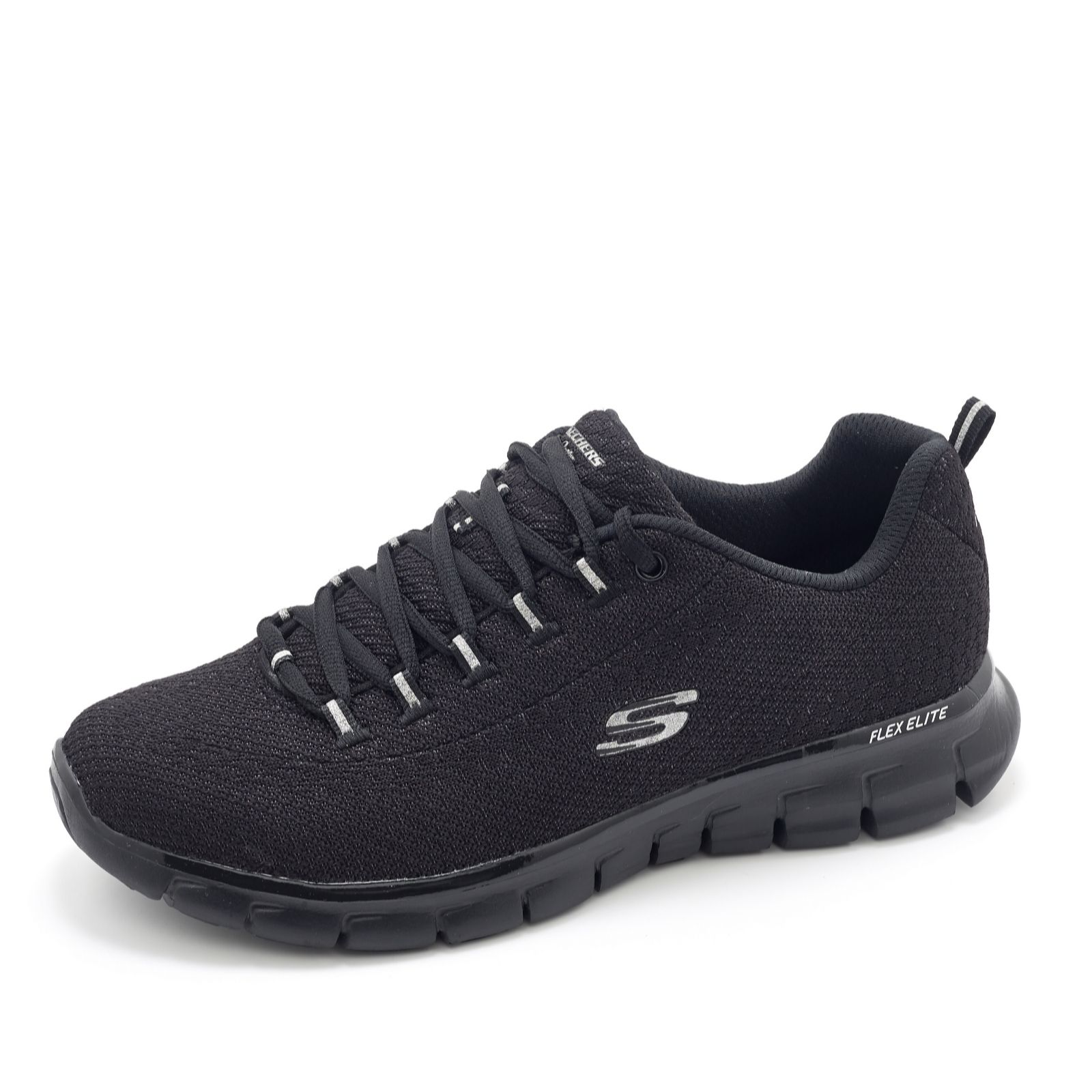 Skechers Synergy Safe And Sound Soft Knit Lace Up Trainer W Memory Foam QVC UK
